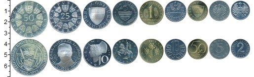 Изображение Наборы монет Австрия Австрия 1972 1972  Proof- В наборе 9 монет ном