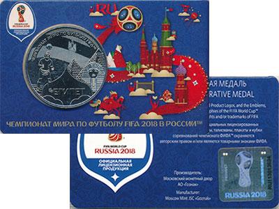 Монета Россия Жетон Медно-никель 2018 UNC фото
