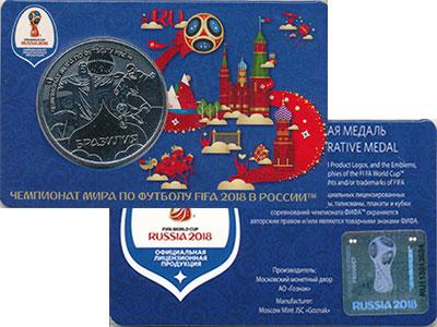Изображение Подарочные монеты Россия Жетон 2018 Медно-никель UNC Бразилия. Участники