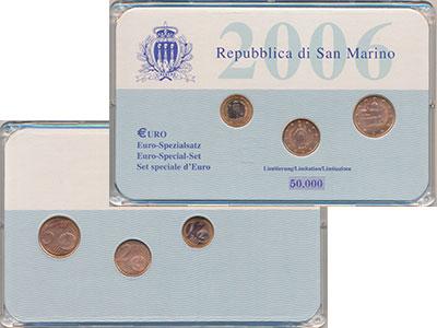 Изображение Подарочные монеты Сан-Марино Выпуск монет 2006 года 2006   В наборе представлен