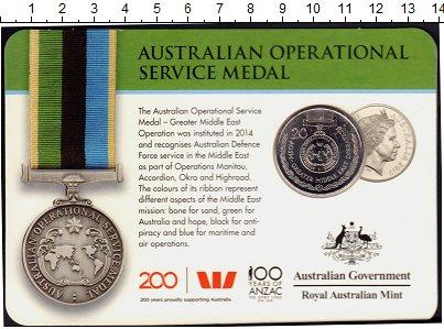 Изображение Монеты Австралия 20 центов 2017 Медно-никель UNC