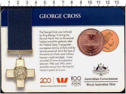 Изображение Подарочные монеты Австралия 25 центов 2017 Медь UNC Награды,Ордена и Мед