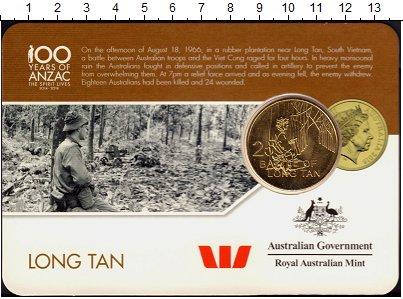Изображение Монеты Австралия 25 центов 2016 Латунь UNC Битва за Лонг-Тан