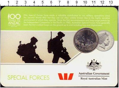 Изображение Монеты Австралия 20 центов 2016 Медно-никель UNC Специальные силы