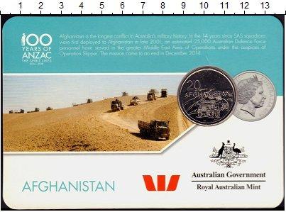 Изображение Подарочные монеты Австралия 20 центов 2016 Медно-никель UNC Афганистан