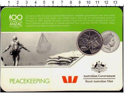 Изображение Монеты Австралия 20 центов 2016 Медно-никель UNC Вертолет