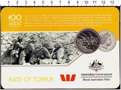 Изображение Подарочные монеты Австралия 20 центов 2016 Медно-никель UNC Тобрук