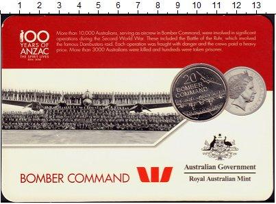 Изображение Подарочные монеты Австралия 20 центов 2016 Медно-никель UNC Бомбардировка,самоле