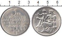 Изображение Монеты Швейцария 5 франков 1948 Серебро XF