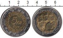 Изображение Монеты Швейцария 5 франков 2000 Биметалл UNC