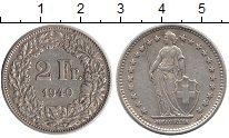 Изображение Монеты Швейцария 2 франка 1940 Серебро UNC-