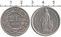 Изображение Монеты Швейцария 2 франка 1945 Серебро UNC-
