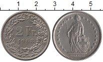 Изображение Монеты Швейцария 2 франка 1968 Медно-никель UNC-