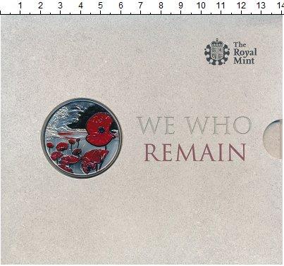 Изображение Подарочные монеты Олдерни 5 фунтов 2015 Медно-никель Proof Мы помним ! В память