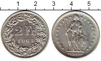 Изображение Монеты Швейцария 2 франка 1961 Серебро XF