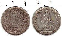 Изображение Монеты Швейцария 1 франк 1945 Серебро XF