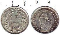 Изображение Монеты Швейцария 1 франк 1943 Серебро XF