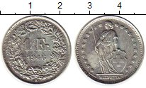 Изображение Монеты Швейцария 1 франк 1946 Серебро XF