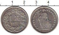 Изображение Монеты Швейцария 1 франк 1877 Серебро XF