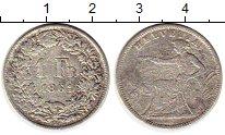 Изображение Монеты Швейцария 1 франк 1861 Серебро VF-