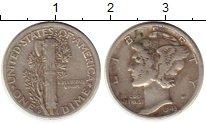 Изображение Монеты США 1 дайм 1943 Серебро VF