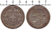 Изображение Монеты Швейцария 5 франков 1889 Серебро XF