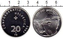 Изображение Монеты Швейцария 20 франков 2007 Серебро UNC-