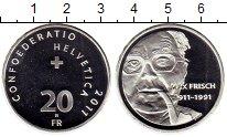 Изображение Монеты Швейцария 20 франков 2011 Серебро UNC-