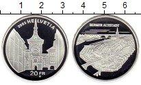 Изображение Монеты Швейцария 20 франков 2003 Серебро UNC-