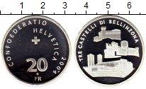 Изображение Монеты Швейцария 20 франков 2004 Серебро Proof-