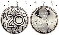 Изображение Монеты Швейцария 20 франков 1997 Серебро Proof-