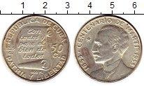 Изображение Монеты Куба 50 сентаво 1953 Серебро XF