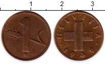 Изображение Монеты Швейцария 1 рапп 1949 Бронза XF