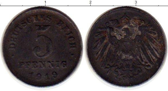 Картинка Монеты Веймарская республика 5 пфеннигов Железо 1919