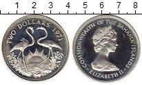 Изображение Монеты Багамские острова 2 доллара 1971 Серебро Proof-