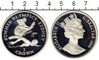 Монета Гибралтар 1 крона Серебро 1999 Proof фото