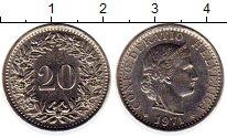 Изображение Монеты Швейцария 20 рапп 1971 Медно-никель XF