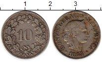 Изображение Монеты Швейцария 10 рапп 1903 Медно-никель XF