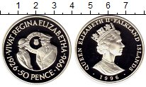 Изображение Монеты Великобритания Фолклендские острова 50 пенсов 1996 Серебро Proof