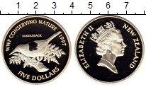 Изображение Монеты Новая Зеландия 5 долларов 1997 Серебро Proof