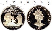 Изображение Монеты Багамские острова 5 долларов 1991 Серебро Proof-