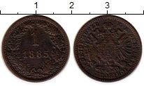 Изображение Монеты Австрия 1 крейцер 1885 Медь XF-