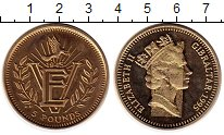 Изображение Монеты Гибралтар 5 фунтов 1995 Латунь UNC-