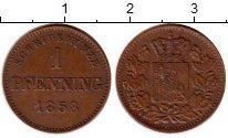 Изображение Монеты Германия Бавария 1 пфенниг 1858 Медь XF