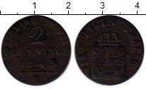 Изображение Монеты Германия Пруссия 2 пфеннига 1845 Медь VF