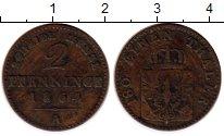 Изображение Монеты Германия Пруссия 2 пфеннига 1864 Медь VF