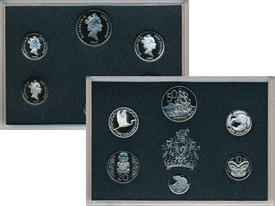 Изображение Подарочные монеты Новая Зеландия Набор 1990 года 1990  Proof