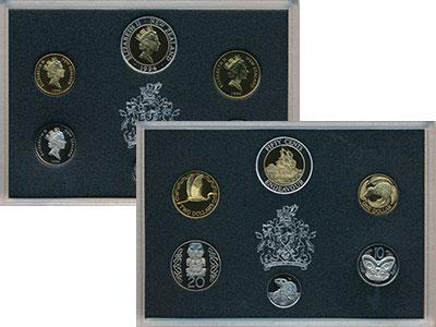 Изображение Подарочные монеты Новая Зеландия Набор 1994 года 1994  Proof