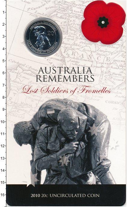 Изображение Подарочные монеты Австралия 20 центов 2010 Медно-никель UNC