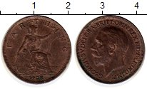 Изображение Монеты Великобритания 1 фартинг 1928 Бронза XF